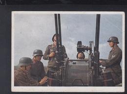 Dt. Reich Farb-AK Unsere Flak 1944 - Guerra 1939-45