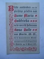 Dubbelprentje  Aandenken  Aan De Plechtige Geloften Van DAME MARIA GODFRIEDA  In De Wereld  ROSA DALLE  1931 Van MARCKE - Religion & Esotérisme