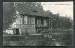 CPA - ANET - Chalet Normand Dans La Prairie, Animé - Anet