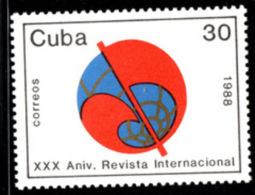 CB0180 Cuba 1988 The 30th Anniversary Of The Socialist Peace Question - Cuba