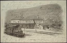 SONCEBOZ La Gare Bahn Chemin De Fer Sonceboz-Sombeval–Moutier Dampflokomotive Gel. 1901 Ambulant - BE Berne
