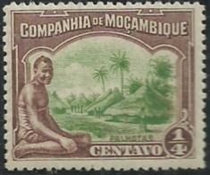 Mozambique Company Companhia De Moçambique 1918-31 A9 Native And Village MLH - Costumes