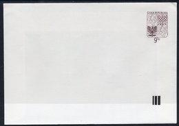 CZECH REPUBLIC 1995 9 Kc.stationery Envelope Unused - Postal Stationery