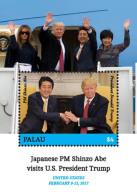 Palau 2018 U.S. PRESIDENT TRUMP VISITS JAPANESE PRIME MINISTER SHINZO ABE I201803 - Palau