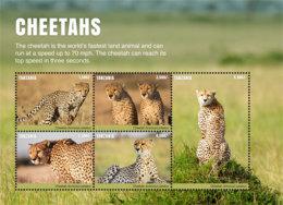 Tanzania 2017 Fauna Animals CHEETAHS  I201803 - Tanzania (1964-...)