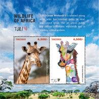 Tanzania 2017 Fauna Animals WILDLIFE OF AFRICA FEATURING TJILI   I201803 - Tanzania (1964-...)