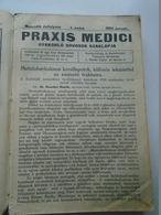 B001  Praxis Medici Journal 1925 Timisoara Romania  - Hungarian Language  1-12 Monthly Issue 1925 - Books, Magazines, Comics