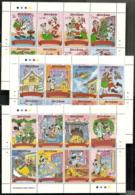 Sierra Leone,  Scott 2017 # 1294-1302,  Issued 1990,  3 M/S Of  8 + 6 S/S,  MNH,  Cat $ 56.75,  Disney - Sierra Leone (1961-...)