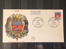 France - 1965 - Enveloppe 1er Jour - Blason De Paris - France
