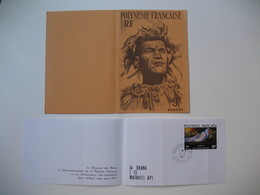 Carte Photo Personnage De  Polynésie  + Doc Des Postes Pour Les Voeux De 1977 Papeete Tahiti - Polynésie Française