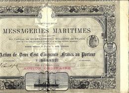 RARE VOIR HISTORIQUE  MESSAGERIES MARITIMES  1904 IMPRIMERIE CHAIX V. DESCRIPTION - Navigation