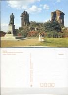 Ak DDR - Dresden - Ruine Der Frauenkirche Mit Lutherdenkmal - Dresden