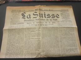 LA SUISSE GENÈVE DERNIÈRES NOUVELLES DE LA NUIT JOURNAL QUOTIDIEN N° 81 LUNDI 30 MAI 1919 APRES GUERRE LIRE TITRES. PUBS - Newspapers