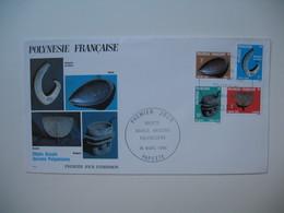 FDC  Polynésie Française   1984   Objets Usuels Anciens Polynésiens - Polinesia Francese