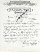 26 - Drôme - COLONZELLE - Facture MANCELON & ROBIN - Imprimerie, Cartonnages - 1908- REF 271A - France
