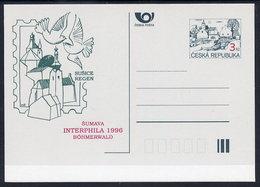 CZECH REPUBLIC 1996 3 Kc.postcard INTERPHILA '96 Unused.  Michel P7-A7 - Postal Stationery