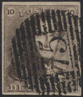 épaulettes - N°1 Très Bien Margé Obl P75 (Lokeren) - 1849 Epaulettes