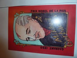 Prix Nobel 1990 Mickhail Gorbachev - Cartoline