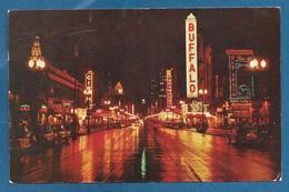 DOWNTOWN MAIN STREET BUFFALO NEW YORK 1956 - Buffalo