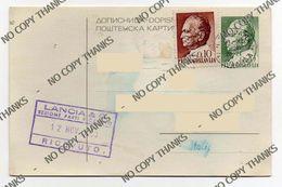 JUGOSLAVIJA - JUGOSLAVIA - Storia Postale Intero Postale Cartolina - 1945-1992 Socialist Federal Republic Of Yugoslavia