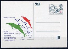 CZECH REPUBLIC 1995 3 Kc.postcard RICCIONE '95 Unused.  Michel P7-A3 - Postal Stationery