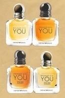 Carte Parfumée Avec 2 Patchs Replica Perfume Card STRONGER WITH YOU / BECAUSE IT'S YOU * EMPORIO ARMANI * R/V - Modernes (à Partir De 1961)