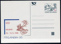 CZECH REPUBLIC 1995 3 Kc.postcard FINLANDIA '95 Unused.  Michel P7-A1 - Postal Stationery