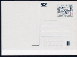 CZECH REPUBLIC 1995 3 Kc.definitive Postcard Unused.  Michel P7 - Postal Stationery