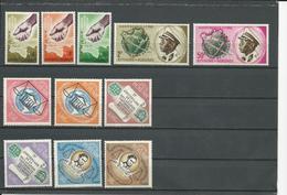 BURUNDI Scott 42-44, 45-46, 62-67 Yvert 49-51, 52-53, 69-74 (11) ** Cote 8,25$ - 1962-69: Neufs