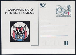 CZECH REPUBLIC 1995 3 Kc. SCF Philatelic Meeting Private Postcard Unused. - Postal Stationery