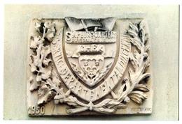 CPM 18 BOURGES Ecusson  Caserne De POMPIERS Rue Moyenne ( Détruite) - Bourges