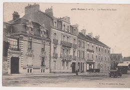 26439 Deux Cpa Redon Place Gare Hotel De Bretagne -4888 Mary Rousseliere & Rue Gare Ed Dugas - - Redon