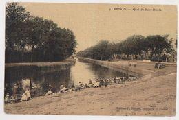 26440 Redon Quai Saint Nicolas -9 Renais Papeterie - Toilée Colorisée Lavandiere - Redon