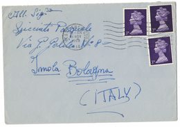XA180    GB 3d QEII Machin (3) 1968 West Kensington To Bologna Italy - 1952-.... (Elizabeth II)