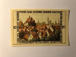 Allemagne Notgeld Braunschweiger 10 Pfennig - [ 3] 1918-1933 : Weimar Republic
