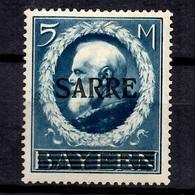 Sarre YT N° 30 Neuf *. Signé. B/TB. A Saisir! - Unused Stamps