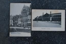 1263/ MALINES - La Gare + Maison Du Saumon (2 Cartes) - Machelen
