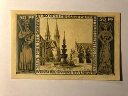 Allemagne Notgeld Braunschweiger 50 Pfennig - [ 3] 1918-1933 : Weimar Republic