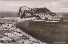 Vue Aérienne De Gibraltar,gibraltar From The Air,conquise à L'espagne  En 1704,aerial View Of Rock,carte Photo - Gibraltar