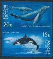 B0459 Russia 2012 Fauna Marine Mammal Whale Colour Proof Se-tenant - Balene