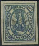 Bolivie (1867) N 7 (charniere) Signé - Bolivia