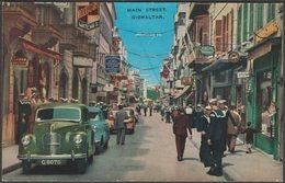 Main Street, Gibraltar, C.1950s - Valenrock Series Postcard - Gibraltar