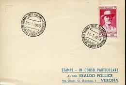 31705 Italia, Special Postmark 1959 Rimini Mostra Cartoline Storico Reggimentali - History