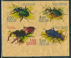 B0460 Russia Rossija 2003 Animal Insects Bug Colour Proof Se-tenant - 1992-.... Federation