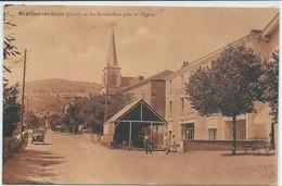 Saint-Alban-les-Eaux-La Grande-Rue Près De L'Église (Légère Corne D'angle Haut à Gauche,voir Scan) - Other Municipalities