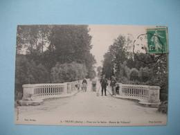 CPA  Payns  Aube   1916   Le Pont Sur La Seine  Route De Villacerf - Francia