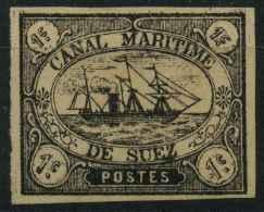 Egypte (1868) Egypte Canal De Suez N 1 (Sans Gomme) Signé - Égypte