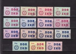 DDR, Dienst, Laufkontrollzettel 1-15,ungültig Gest.  (T 2981) - Service