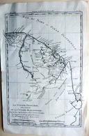DOM TOM  GUYANE CARTE GEOGRAPHIQUE 18° DRESSEE PAR BONNE VERS 1770 ANTILLES AMERIQUE DU SUD - Cartes Géographiques