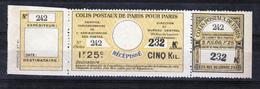 France Colis Postaux De Paris 100 Acheminement Normal Neuf Non Gommé TB MNH Sin Charnela Cote Dallay 40 - Colis Postaux